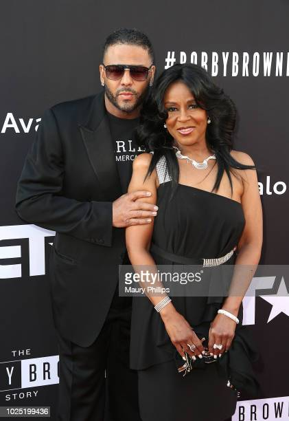 Al B Sure and Angela Winbusharrive at The Premiere Screening of 'The Bobby Brown Story' presented by BET and Totota at Paramount Theater on the...
