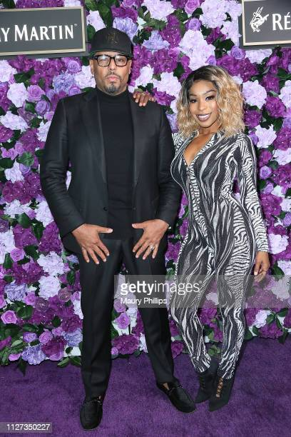 Al B Sure and Porscha Coleman attend The Griot Gala Oscars After Party 2019 at The District by Hannah An on February 24 2019 in Los Angeles California