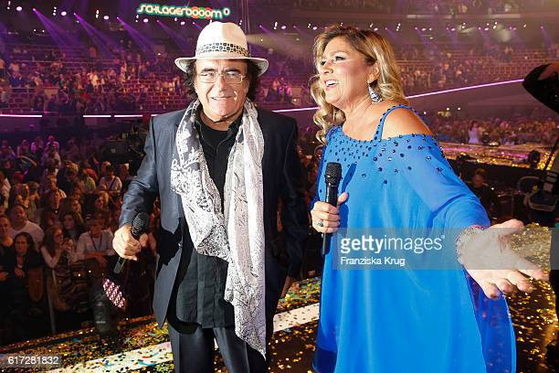Al Bano and Romina Power attend the show 'Schlagerboom Das Internationale Schlagerfest' at Westfalenhalle on October 21 2016 in Dortmund Germany