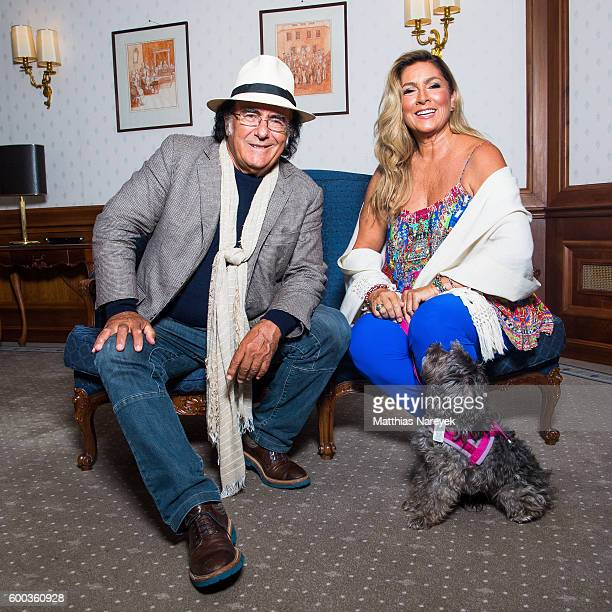 Al Bano and Romina Power during a photocall at Westin Grand Hotel on September 8 2016 in Berlin Germany