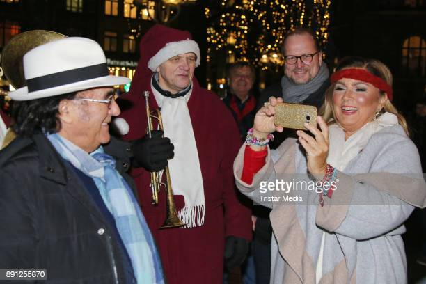 Al Bano and Romina Power during a walk trough the Christmas Market on December 12 2017 in Hamburg Germany