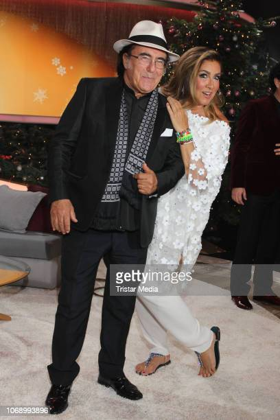 Al Bano and Romina Power during the charity tv show 'Die schoensten WeihnachtsHits' in favor of MISEREOR and Brot fuer die Welt on December 5 2018 in...