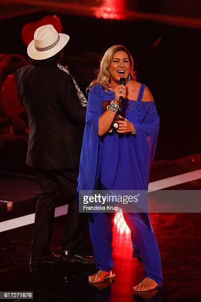 Al Bano and Romina Power during the taping of the show 'Schlagerboom Das Internationale Schlagerfest' at Westfalenhalle on October 21 2016 in...