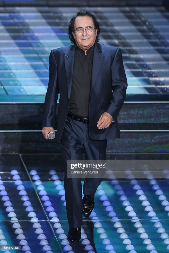 Al Bano attends the opening night of the 67th Sanremo Festival 2017 at Teatro Ariston on February 7, 2017 in Sanremo, Italy.