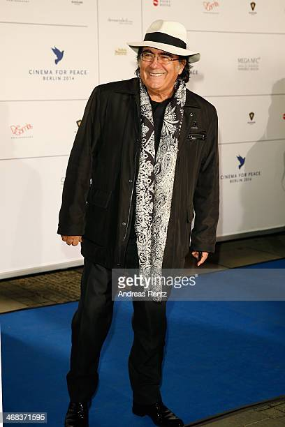 Al Bano Carrisi arrives for the Cinema For Peace 2014 Gala at Konzerthaus Am Gendarmenmarkt on February 10 2014 in Berlin Germany