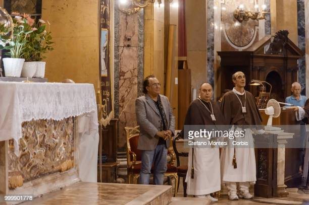 Al Bano Carrisi during the solemn Celebration in honor of Madonna del Carmine in the church of Santa Maria in Traspontina at Via della Conciliazione...