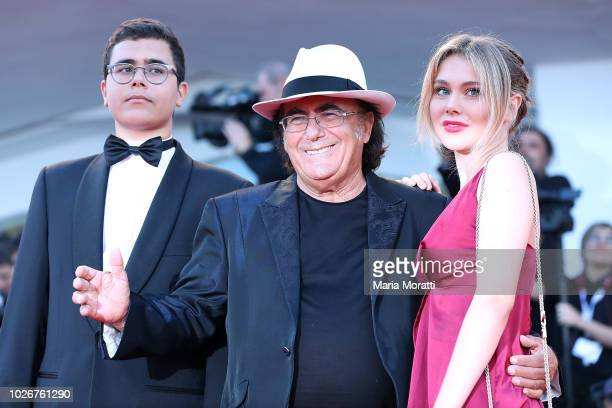 Al Bano Carrisi Jr Al Bano and Jasmine Carrisi walk the red carpet ahead of the 'Vox Lux' screening during the 75th Venice Film Festival at Sala...
