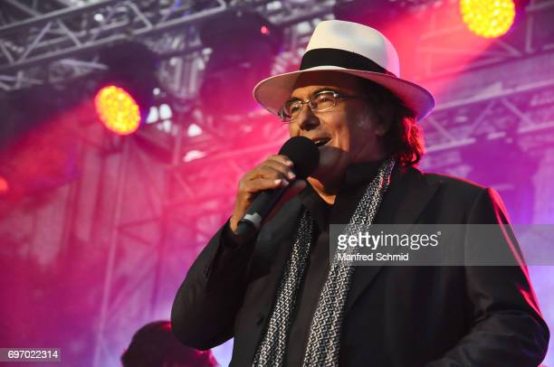 Al Bano Carrisi performs on stage during the Summer Open Air Purkersdorf on June 17 2017 in Purkersdorf Austria