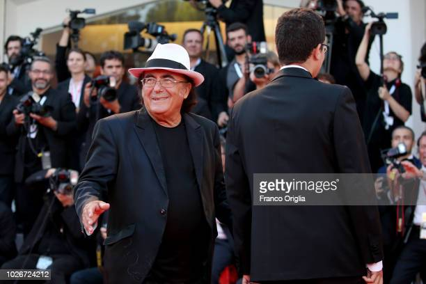 Al Bano Carrisi walks the red carpet ahead of the 'Vox Lux' screening during the 75th Venice Film Festival at Sala Grande on September 4 2018 in...