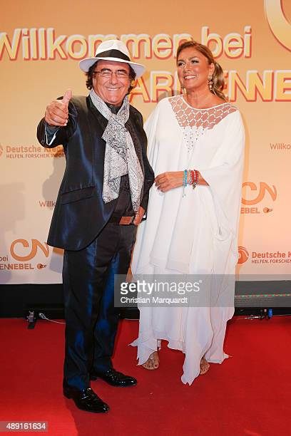 Al Bano Power and Romina Power attend the red carpet of the television show 'Willkommen bei Carmen Nebel' at Velodrom on September 19 2015 in Berlin...