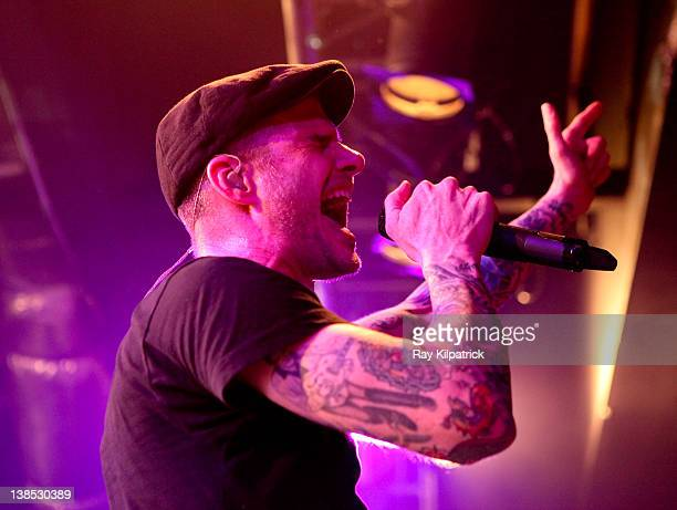 Al Barr of Dropkick Murphys performs on stage at O2 Academy on February 8, 2012 in Liverpool, United Kingdom.