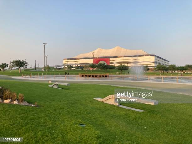 al bayt stadium in qatar's northern city, al khor. - al khor ストックフォトと画像