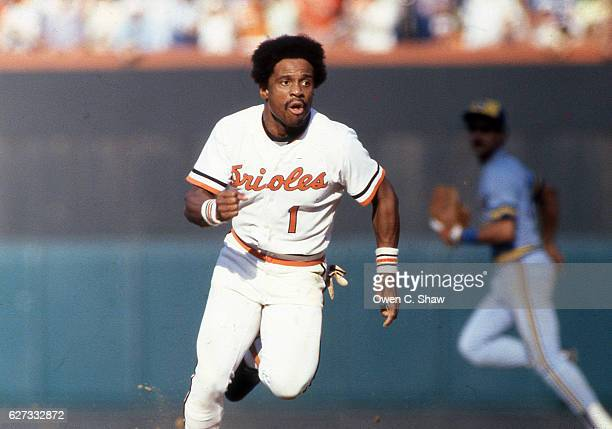 Al Bumbry of the Baltimore Orioles circa 1983 scores againest the Milwaukee Brewers at Memorial Stadium in Baltimore Maryland