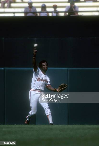 Al Bumbry of the Baltimore Orioles in action during a Major League Baseball game circa 1980 at Memorial Stadium in Baltimore Maryland Bumbry played...