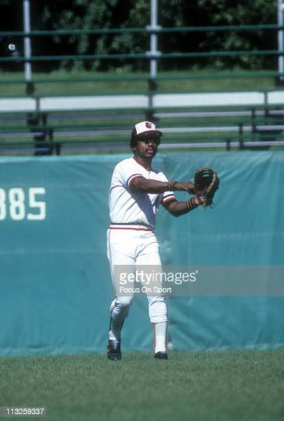 Al Bumbry of the Baltimore Orioles in action during a Major League Baseball game circa 1981 at Memorial Stadium in Baltimore Maryland Bumbry played...