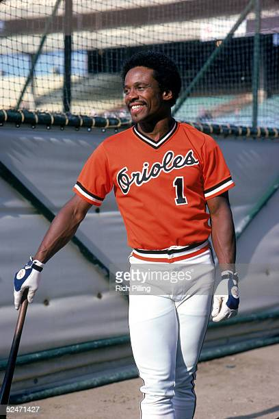 Al Bumbry of the Baltimore Orioles smiles as he poses for a portrait during batting practice circa 19721984