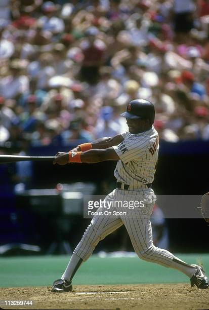 Al Bumbry of the San Diego Padres swings at a pitch during a Major League Baseball game circa 1985 Bumbry played for the Padres in 1985
