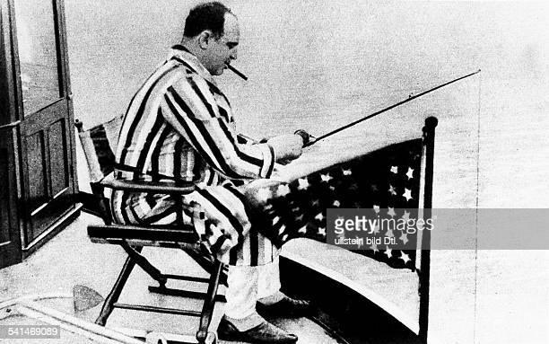 Al Capone Al Capone 18991947 Gangster USA Al Capone fishing abord a yacht on the coast of Florida around 1931