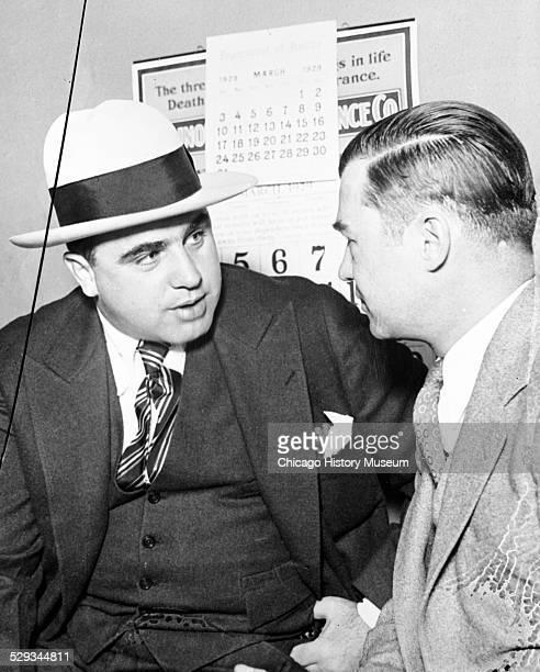 Al Capone and attorney William F Waugh Chicago Illinois 1929