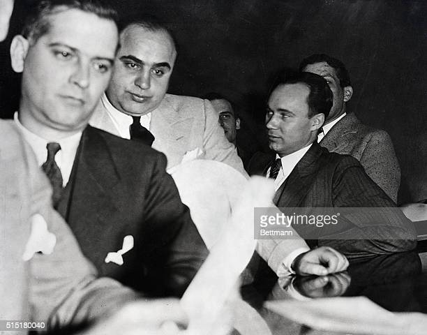 Al Capone Chicago gangster under indictment in Chicago Federal Court Undated Photograph