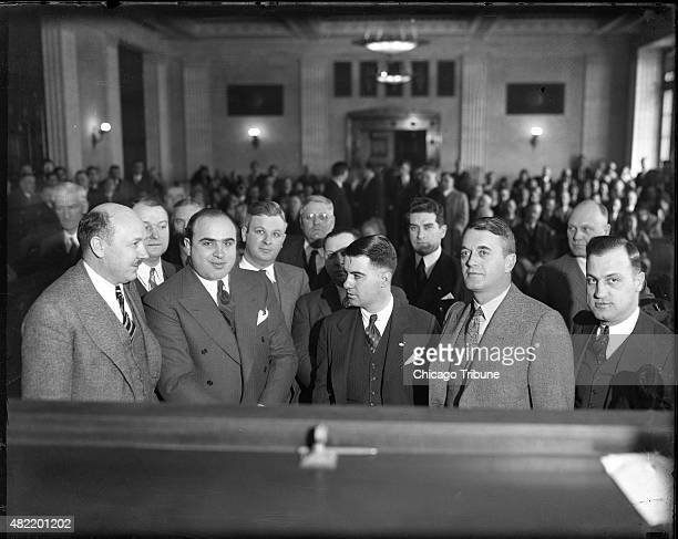 Al Capone in the criminal courthouse in Chicago on Feb 25 1931