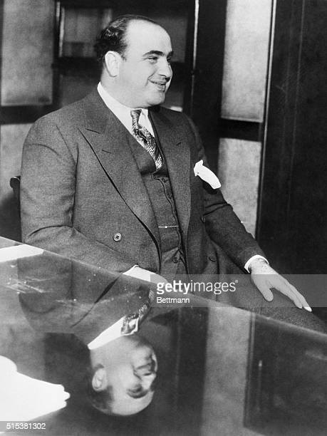 Al Capone pictured in court int he Federal Building in Chicago after his arrest as a vagrant