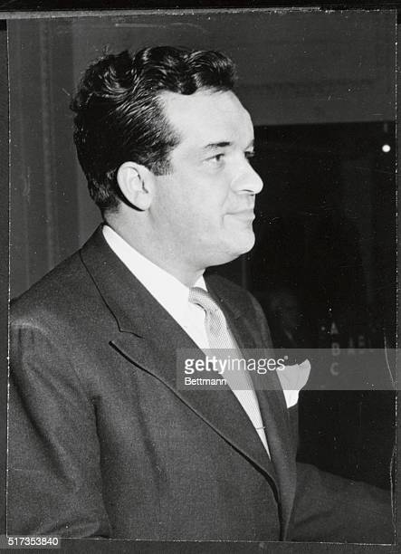 Al Capp, creator of syndicated comic strip, L'il Abner addresses audience at Town Hall, New York, on America's Town Meeting of the Air, presented by...