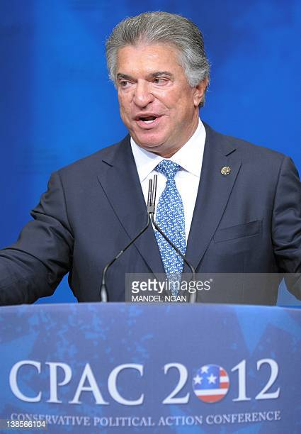 Al Cardenas chairman of the American Conservative Union speaks during an address to the 39th Conservative Political Action Committee February 9 2012...