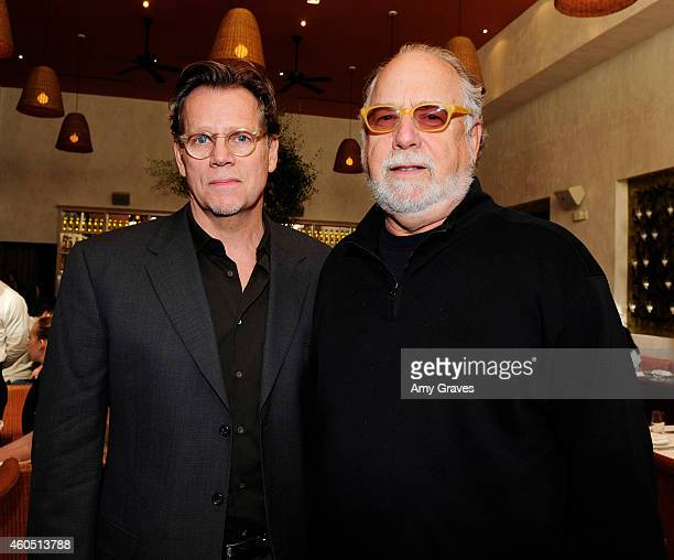 Al Corley and Jonathan Dana attend a special luncheon for Kevin Costner and Mike Binder hosted by Colleen Camp for the film BLACK OR WHITE at Fig...