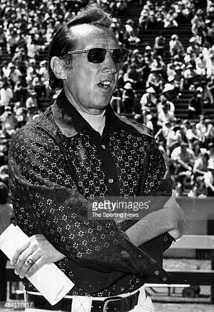 Al Davis of the Oakland Raiders looks on circa 1980s