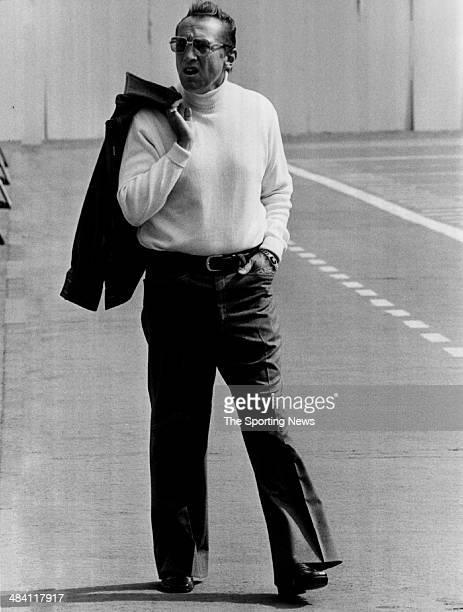 Al Davis of the Oakland Raiders looks on circa 1980s.
