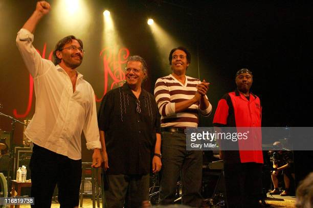 Al Di Meola, Chick Corea, Stanley Clarke and Lenny White after their concert on the Return to Forever Tour on May 30th, 2008 at the Paramount Theater...