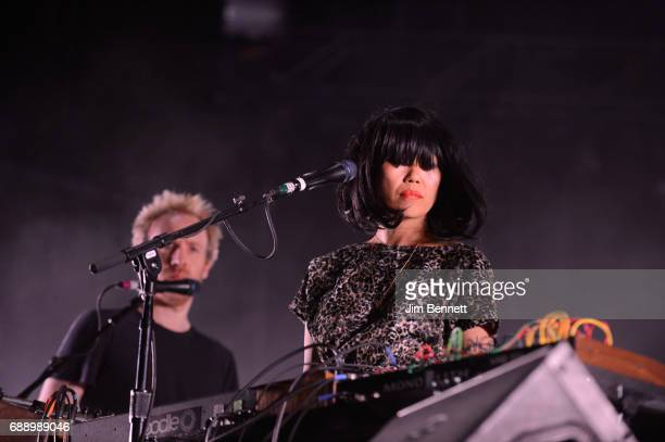 Al Doyle and Nancy Whang of LCD Soundsystem perform live on stage at Gorge Amphitheatre on May 26 2017 in George Washington