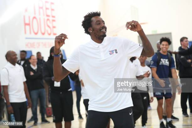 Al FarouqAminu of Team Africa at the Basketball Without Boarders Africa program at the American International School of Johannesburg on August 1 2018...