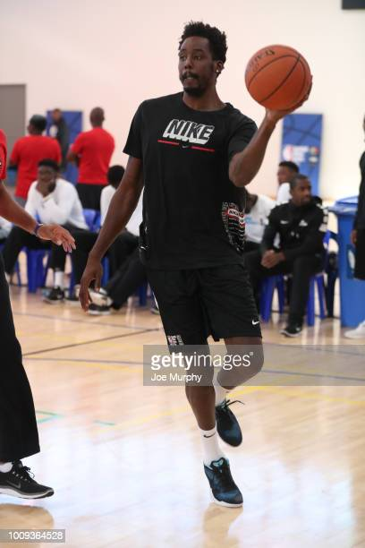 Al FarouqAminu of Team Africa works out at the Basketball Without Boarders Africa program at the American International School of Johannesburg on...