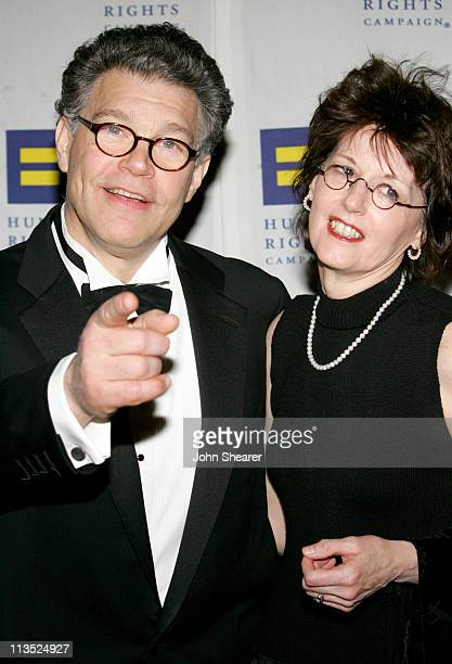 Al Franken and wife Franni during Human Rights Campaign Los Angeles Gala Dinner Honoring Al Franken with Guest Speaker Al Gore March 25 2006 at Hyatt...