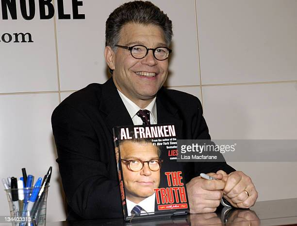 Al Franken during Al Franken Signs Copies of His Book 'The Truth With Jokes' at Barnes Noble in New York City October 26 2005 at Barnes Noble in New...