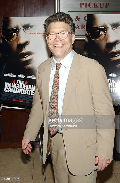 Al Franken during 'Manchurian Candidate' New York Premiere Inside Arrivals at Beekman Theatre in New York City New York United States
