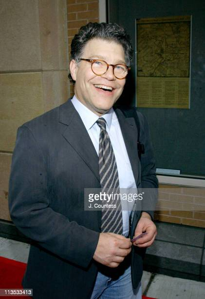 Al Franken during THE WEEK Magazine hosts Premiere of 'The Hunting of the President' Arrivals at Skirball Center for the Performing Arts in New York...