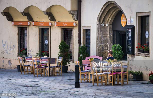 al fresco alone - bratislava stock pictures, royalty-free photos & images