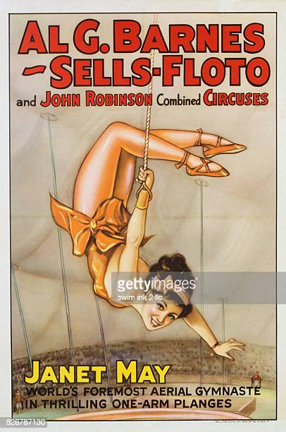 Al G Barnes SellsFloto and John Robinson Combined Circuses Janet May Poster