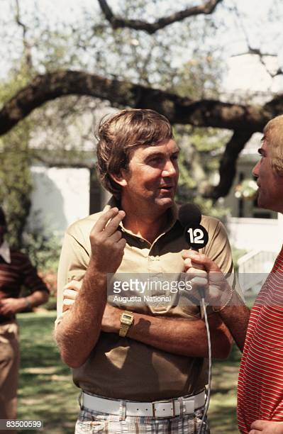 Al Geiberger is interviewed during the 1978 Masters Tournament at Augusta National Golf Club on April 1978 in Augusta Georgia