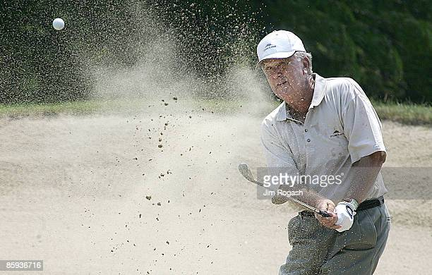Al Geiberger of Palm Desert California hits from the fairway during the 2005 Bank of America Championship at Nashawtuc Country Club in Concord...