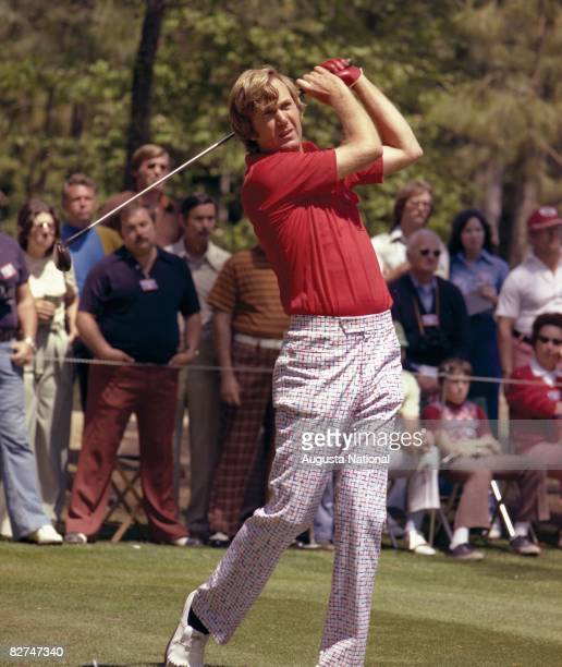 Al Geiberger tees off during the 1976 Masters Tournament at Augusta National Golf Club on April 811 1976 in Augusta Georgia