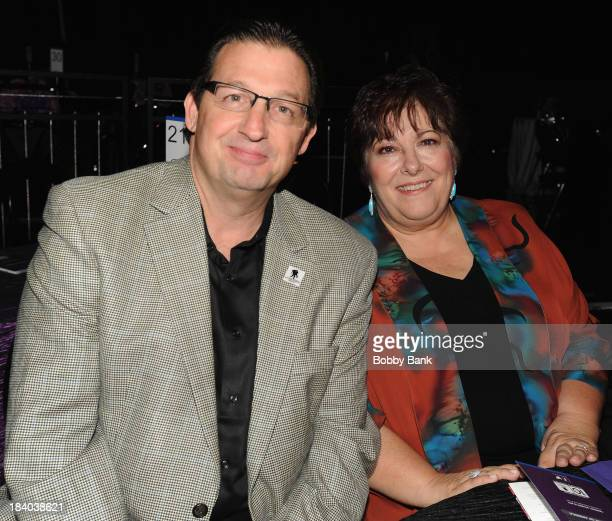 Al Giordano and Johanna Antonacci attends the Wounded Warrior Project Carry Foward Awards Arrivals at Club Nokia on October 10 2013 in Los Angeles...