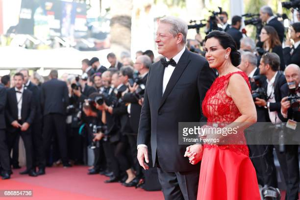 Al Gore and Elizabeth Keadle attend The Killing Of A Sacred Deer premiere during the 70th annual Cannes Film Festival at Palais des Festivals on May...