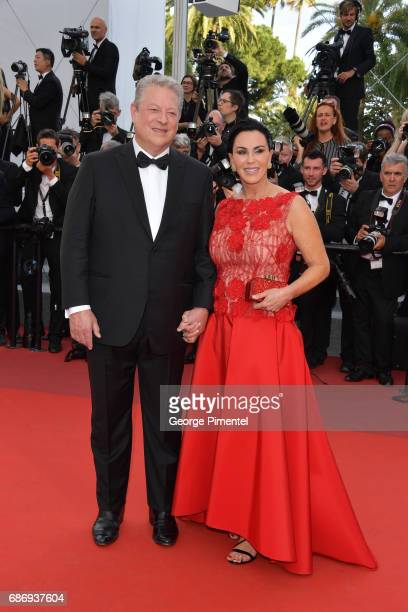 Al Gore and Elizabeth Keadle attend The Killing Of A Sacred Deer screening during the 70th annual Cannes Film Festival at Palais des Festivals on May...