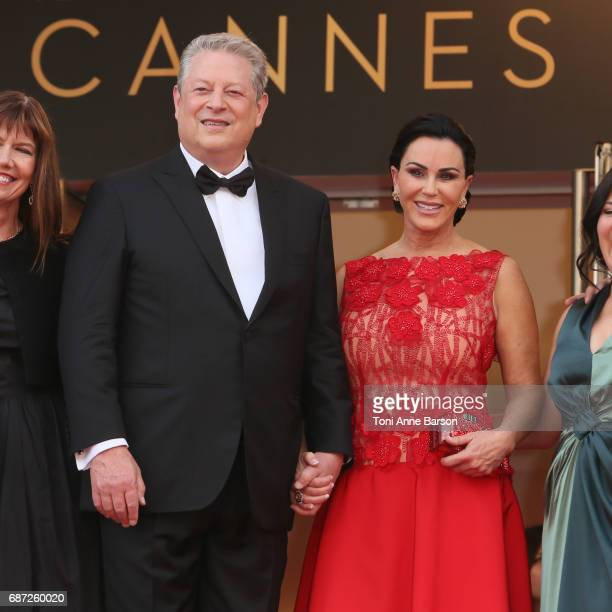 Al Gore and Elizabeth Keadle attend the The Killing Of A Sacred Deer screening during the 70th annual Cannes Film Festival at Palais des Festivals on...