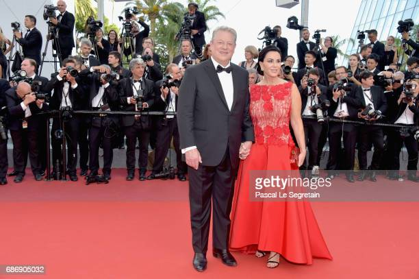Al Gore and Elizabeth Keadle attends the The Killing Of A Sacred Deer screening during the 70th annual Cannes Film Festival at Palais des Festivals...