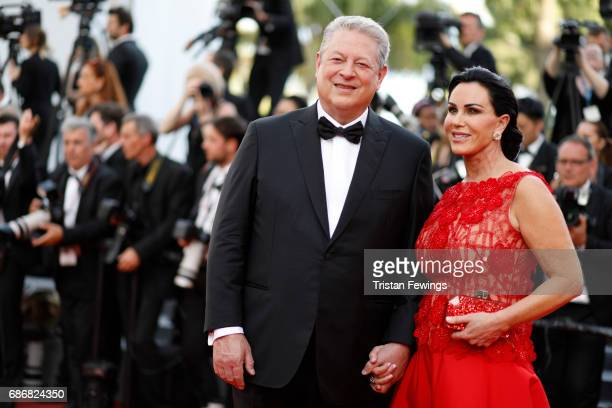 Al Gore and Elizabeth Keadle of An Inconvenient Sequel Truth to Power attend The Killing Of A Sacred Deer premiere during the 70th annual Cannes Film...